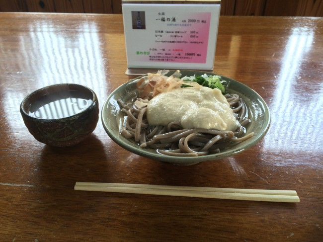 池田町の一福の自然薯蕎麦